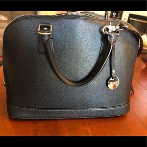 Fiore Prezzo Leather Handbag (Black)
